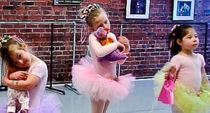 Sleeping ballerinas at Storybook Dance